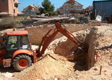 Replanteo excavación