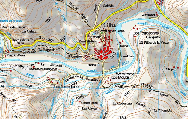 Mapa de Olba (Teruel)
