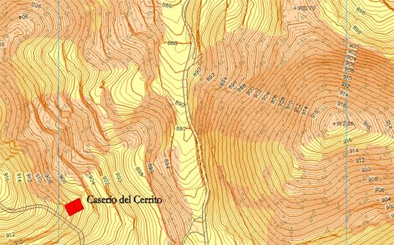 Mapa topográfico San Agustín (Teruel)
