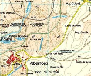 Medición plano topográfico Albentosa